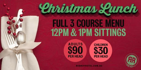 Christmas Lunch at the Rob Roy tickets