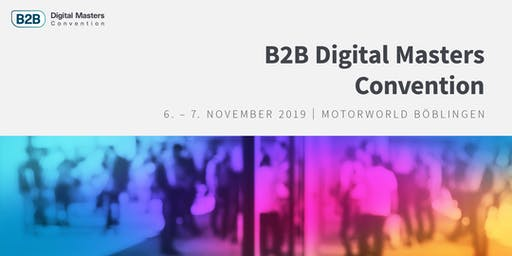 Registrierung Masterclasses | B2B Digital Masters Convention 2019