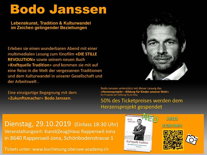 "Bodo Janssen - Multimediale Lesung ""Kraftquelle Tradition"": Bild"