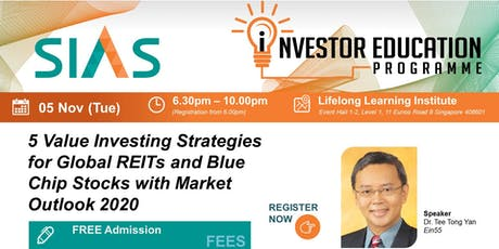Global REITs and Blue Chip Stocks with Market Outlook 2020 tickets
