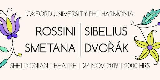 Oxford University Philharmonia: Dvořák, Smetana, Sibelius, Rossini