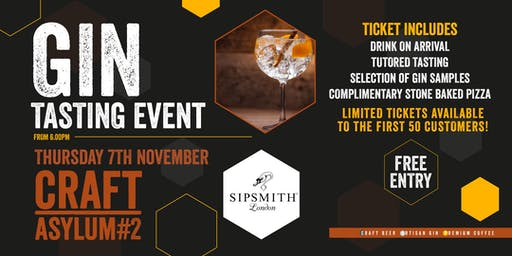 Gin Tasting in Collaboration with Sipsmith London
