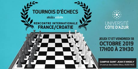 Tournois international d'échecs Université Côte d'Azur tickets