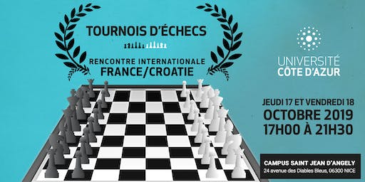 Tournois international d'échecs Université Côte d'Azur
