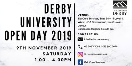 UNIVERSITY OF DERBY OPEN DAY 2019 tickets