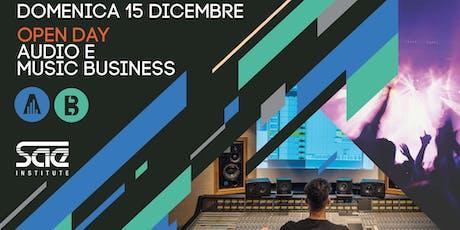 Open Day corsi Audio e Music Business biglietti