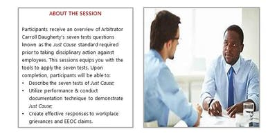 Just Cause: Effective employee performance documentation to meet the seven tests standard