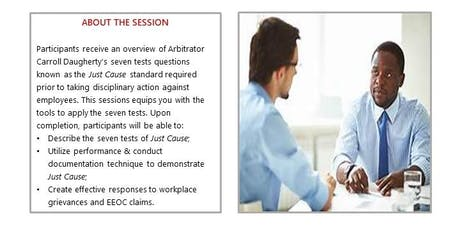 Just Cause: Effective employee performance documentation to meet the seven tests standard tickets