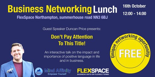 Business Networking Lunch Northampton