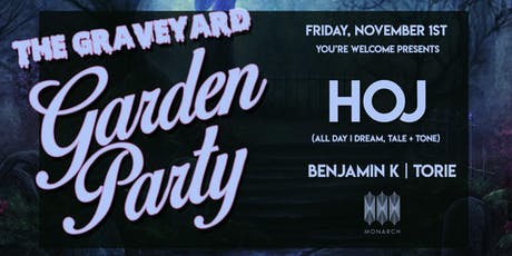 The Graveyard Garden Party with HOJ tickets