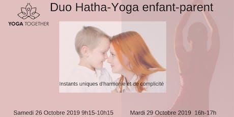 Yoga duo Parent-Enfant Toulouse Pouvourville Vacances scolaires billets