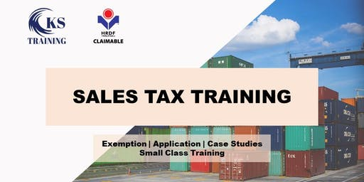 Sales Tax Complete Workshop [HRDF Claimable] [KL Event]