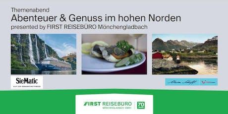 """Themenabend """"Abenteuer & Genuss im hohen Norden"""" Tickets"""