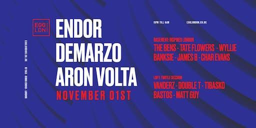 Fridays at EGG: Endor, DeMarzo, Aron Volta More