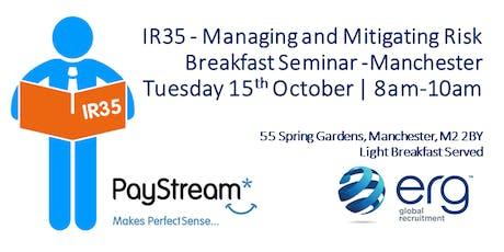 Breakfast Seminar: Preparing for IR35 - Managing and Mitigating Risk   tickets