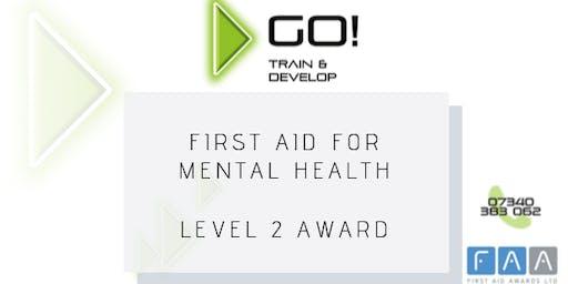First Aid for Mental Health RQF Level 2 Award - Bolton