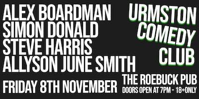 Urmston Comedy Club - Friday 8th November 2019