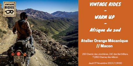 Warm up Macon : Afrique du Sud X Vintage Rides billets