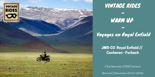 Warm up Cocheren - Forbach : Voyages en Royal Enfield X Vintage Rides