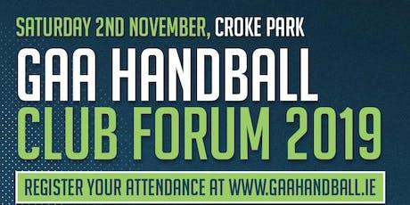 GAA Handball Club Forum 2019 tickets