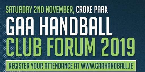 GAA Handball Club Forum 2019