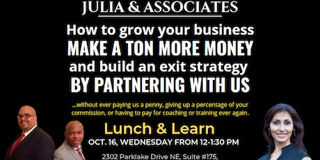 Lunch and Learn on October 16, 2019 tickets
