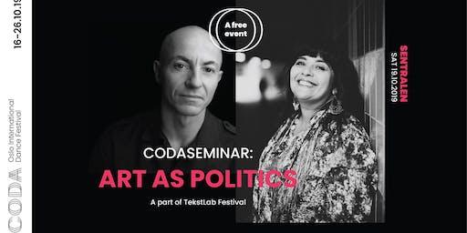 TEKSTBAD: Kunst som politikk