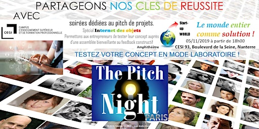 "Pitch night Paris spécial ""IOT"""