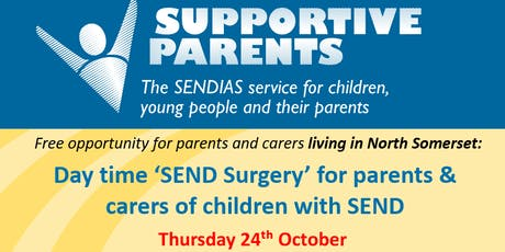 North Somerset Day Time SEND Surgery Thursday 24th Oct 2019 (30 min slots) tickets