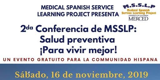 2da Conferencia de MSSLP: Salud Preventiva ¡Para vivir mejor!