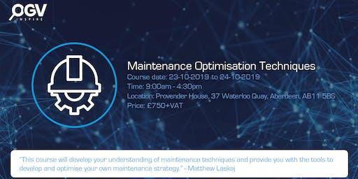Maintenance Optimisation Techniques