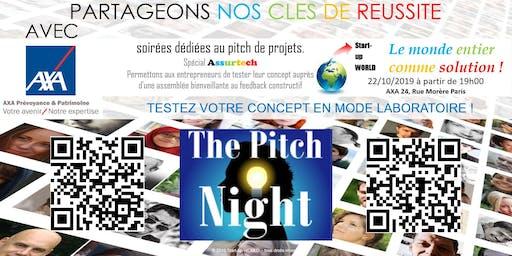 "Pitch night Paris spécial ""ASSURTECH"""