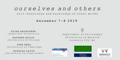 MindGrad 2019: Ourselves and Others