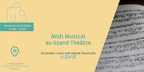 Midi Musical au Grand Théâtre billets