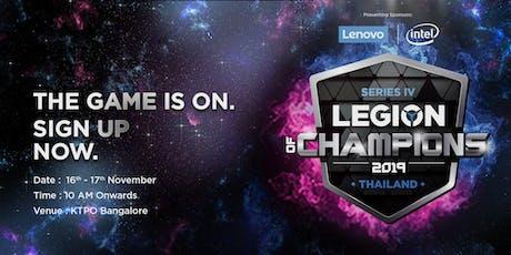 Legion of Champions Series IV PUBG India LAN Finale tickets