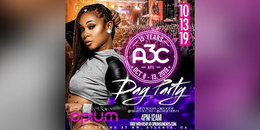 THIS SUNDAY :: A3C WEEKEND FINALE DAY PARTY @ OPIUM NIGHTCLUB