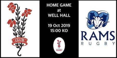 Blackheath v Rams 19th October 2019 tickets