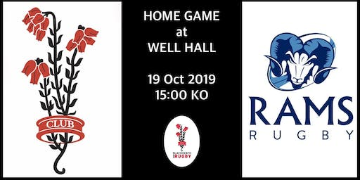 Blackheath v Rams 19th October 2019