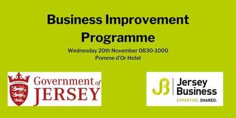 Business Improvement Programme  - Information session tickets