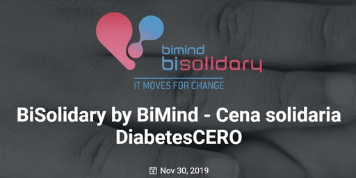 BiSolidary by BiMind - DiabetesCERO - Cena benéfica