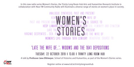 Women's Stories: 'Late the wife of…' tickets