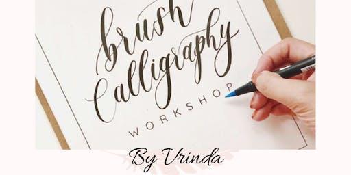 Brush Calligraphy by Vrinda