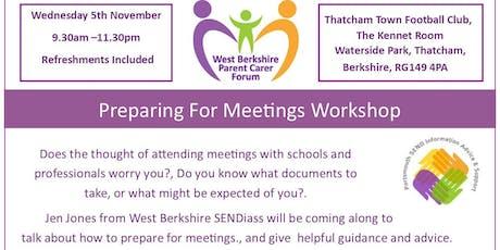 SEND Preparing For Meetings Workshop tickets