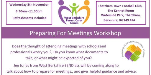 SEND Preparing For Meetings Workshop