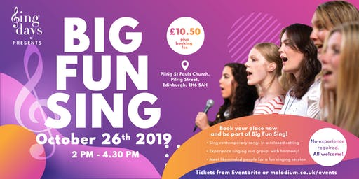 SingDays presents BIG FUN SING - A fun group sing of contemporary pop songs