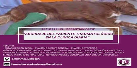 ABORDAJE DEL PACIENTE TRAUMATOLÓGICO EN LA CLÍNICA del MV Sebastián Ortiz entradas