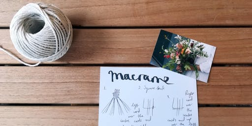 Macrame workshop & Brunch at Tremenheere Kitchen