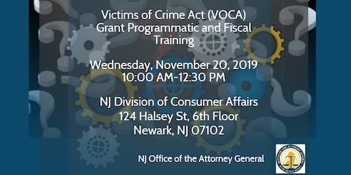 Victims of Crime Act (VOCA) Grant Training