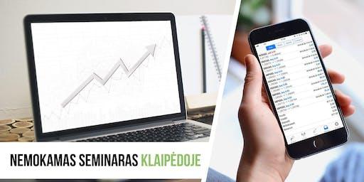 """Seminaras """"Mobilusis telefonas - Tavo darbo įrankis"""" Klaipedoje"""