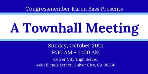 A Townhall Meeting with Rep. Bass